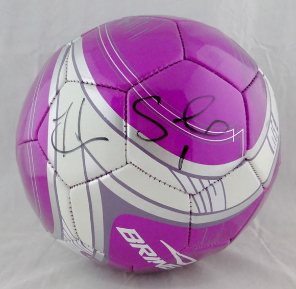 Hope Solo Autographed USA Purple Soccer Ball- JSA W Auth