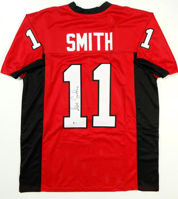 Alex Smith Autographed Red College Style Jersey - Beckett Auth *L1