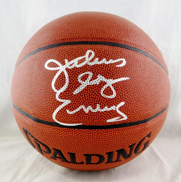 Julius Erving Autographed NBA Spalding Basketball - JSA W Auth *Silver