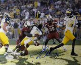 Jadeveon Clowney Autographed South Carolina 8x10 Hit On Michigan Photo- JSA W Auth