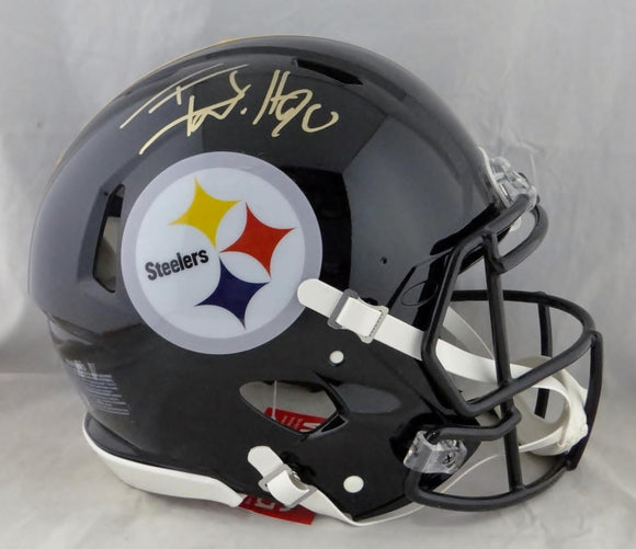 TJ Watt Autographed Pittsburgh Steelers F/S Speed Authentic Helmet- JSA W Auth *Gold