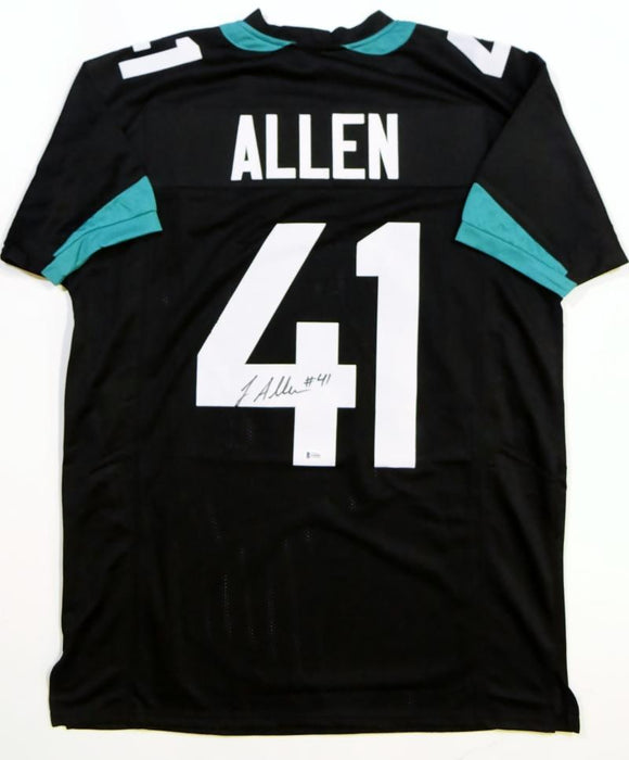Josh Allen Autographed Black Pro Style Jersey- Beckett Authenticated *4