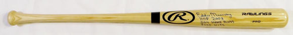 Eddie Murray Autographed Blonde Baseball Bat w/ 3 Insc - JSA W Auth *Blue