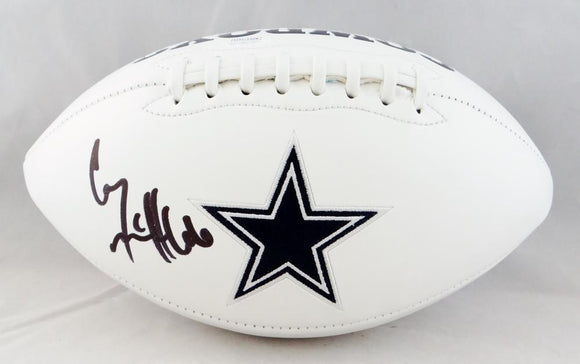 Connor McGovern Autographed Dallas Cowboys Logo Football - JSA W Auth *Black