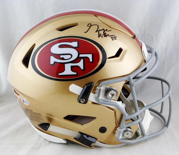 George Kittle Signed San Francisco 49ers F/S SpeedFlex Helmet- Beckett Auth *Black