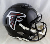 Deion Sanders Autographed Atlanta Falcons Full Size Speed Helmet- Beckett Auth *White *Top