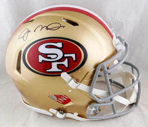 Joe Montana Autographed San Francisco 49ers F/S Speed Authentic Helmet- Beckett Auth *Black