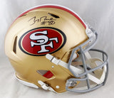 Jerry Rice Autographed San Francisco 49ers F/S Speed Authentic Helmet- Beckett Auth *Black
