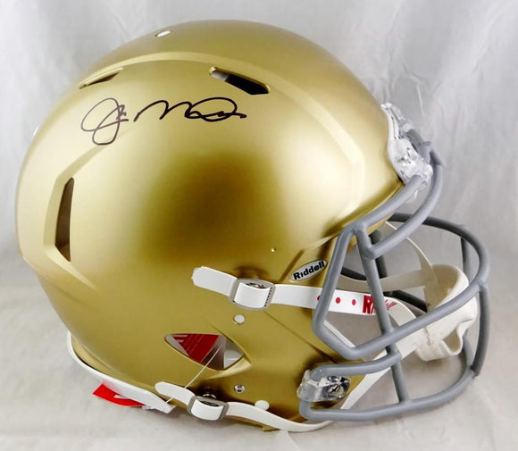 Joe Montana Autographed Notre Dame Speed Authentic F/S Helmet- Beckett Auth