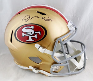 Joe Montana Autographed San Francisco 49ers F/S Speed Helmet - Beckett Auth *Black