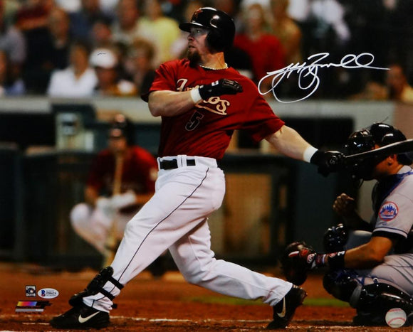 Jeff Bagwell Autographed Astros 16x20 Finishing Swing PF Photo - Beckett Auth *White