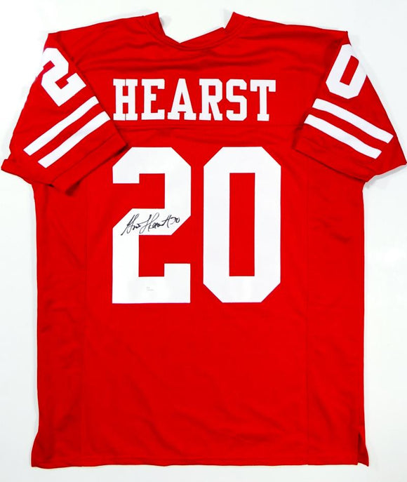 Garrison Hearst Autographed Red Pro Style Jersey- JSA W Auth *2