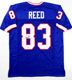 Andre Reed Autographed Blue Pro Style Jersey w/HOF - Beckett Auth *Black