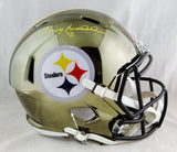 Terry Bradshaw Autographed Pittsburgh Steelers F/S Speed Helmet-Beckett Auth *Yellow