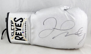 Floyd Mayweather Autographed Silver Cleto Reyes Boxing Glove - Beckett Authentic