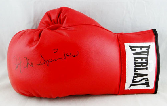 Michael Spinks Autographed Red Everlast Boxing Glove - JSA W Auth *Silver