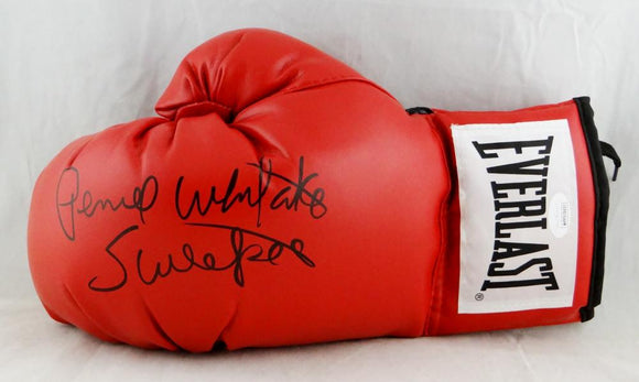 Pernell Whitaker Autographed Red Everlast Boxing Glove - JSA W Auth *Silver