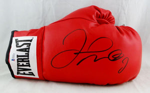 Floyd Mayweather Autographed Everlast Red Boxing Glove - Beckett Auth *Black