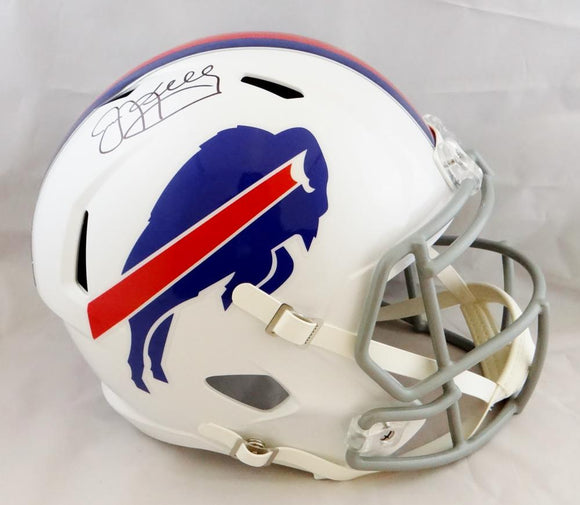 Jim Kelly Autographed Buffalo Bills F/S Speed Helmet- JSA W Auth *Black