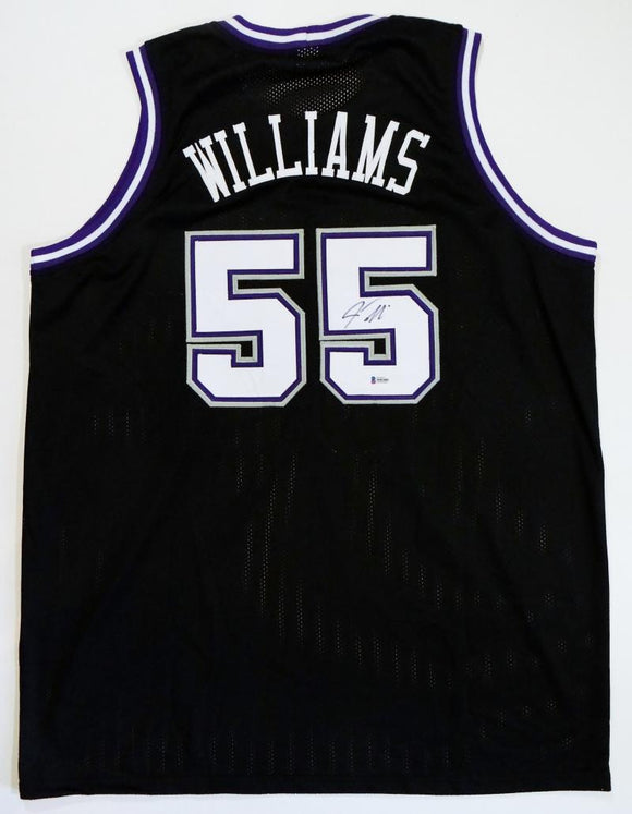 Jason Williams Autographed Black Jersey- Beckett Auth *R5