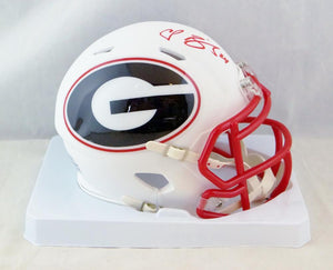 Champ Bailey Autographed Georgia Bulldogs AMP Speed Mini Helmet-JSA W Auth *Red
