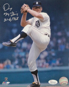 Denny McLain Autographed Detroit Tigers 8x10 Pitching PF Photo w/Insc- JSA W Auth *Silver
