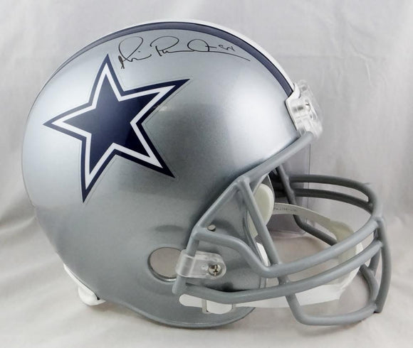 Michael Irvin Autographed F/S Silver Dallas Cowboys Helmet- JSA Witnessed Auth
