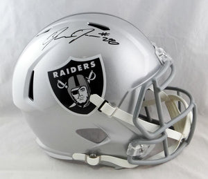 Josh Jacobs Autographed Oakland Raiders F/S Speed Helmet- Beckett Auth *Black