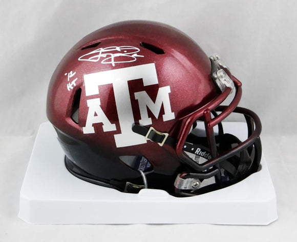 Johnny Manziel Signed Texas A&M Speed Two Tone Mini Helmet W/ HT- Beckett Auth