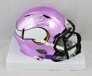 Randy Moss Autographed Minnesota Vikings Chrome Mini Helmet- Beckett W Auth *White