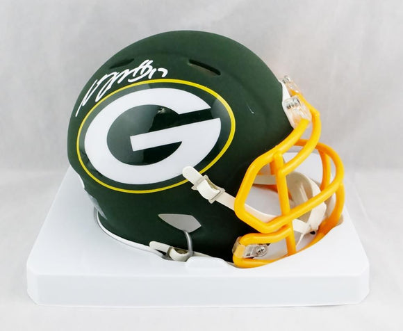 Davante Adams Autographed Green Bay Packers AMP Speed Mini Helmet- JSA W Auth *White