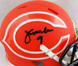 Jim McMahon Autographed Chicago Bears AMP Speed Mini Helmet- Beckett Auth *
