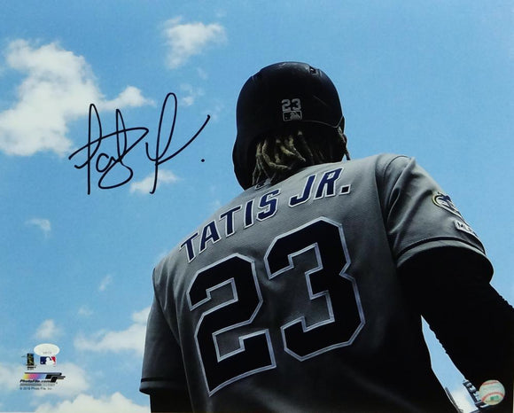 Fernando Tatis Jr Autographed San Diego Padres 16X20 PF Photo Back of Uniform- JSA W Auth *Black