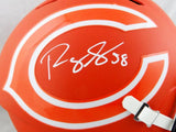 Roquan Smith Autographed Chicago Bears F/S AMP Speed Helmet- Beckett Auth *White