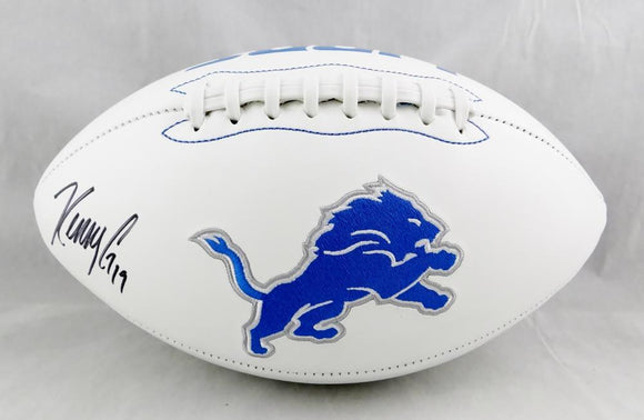 Kenny Golladay Autographed Detroit Lions Logo Football - JSA W Auth *Black