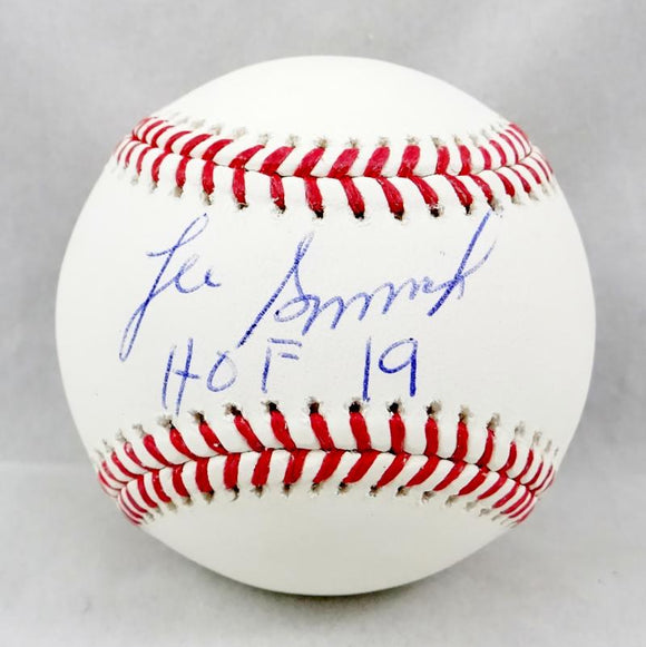 Lee Smith Autographed Rawlings OML Baseball w/HOF 19 - Beckett Auth *Blue