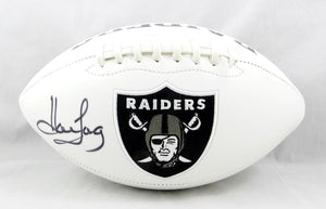 Howie Long Autographed Oakland Raiders Logo Football- JSA Witnessed Auth