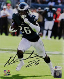 Miles Sanders Autographed Philadelphia Eagles 8x10 PF Running w/ Ball Photo - Beckett Auth *Black