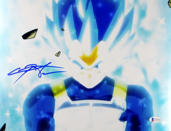 Christopher Sabat Autographed 11x14 Dragon Ball Z Vegeta Photo - Beckett Auth *Blue