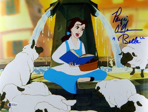 Paige O'Hara Autographed 11x14 Beauty and The Beast Belle Photo - Beckett Auth *Blue