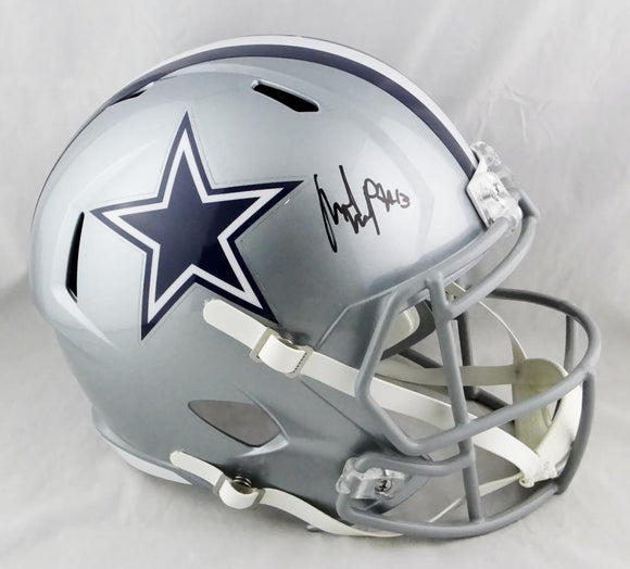 Michael Gallup Autographed Dallas Cowboys Full Size Speed Helmet - Beckett Auth