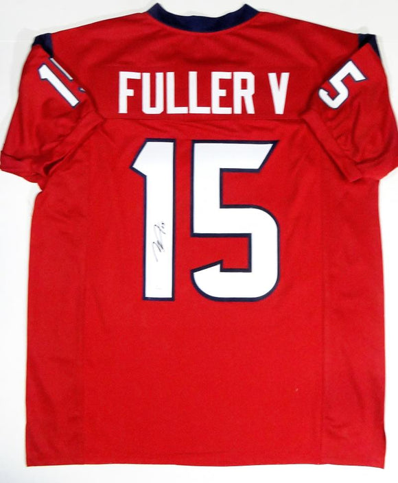 Will Fuller V Autographed Red Pro Style Jersey- JSA Witnessed Authenticated *1
