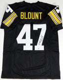 Mel Blount Autographed Black Pro Style Jersey w/ HOF- Beckett Authenticated *4