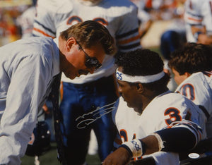 Mike Ditka Autographed Chicago Bears 16x20 With Walter Payton Photo- JSA W Auth