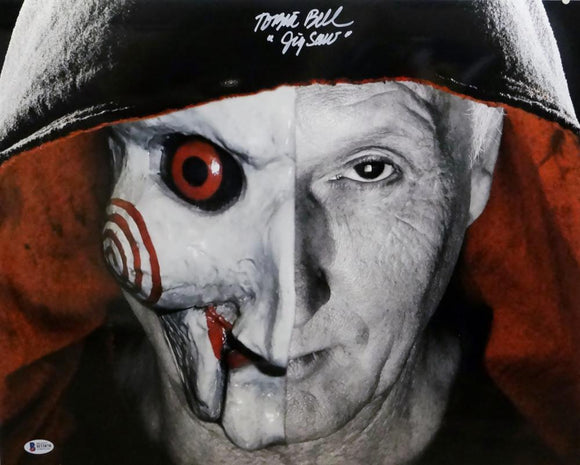 Tobin Bell Autographed Jigsaw 16x20 Photo- Beckett Auth *White