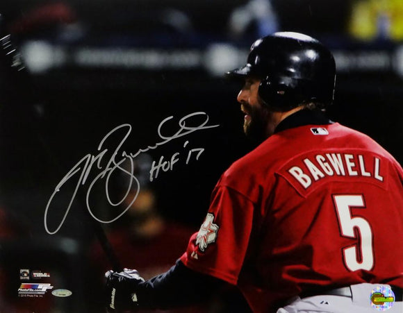 Jeff Bagwell Autographed Astros 16x20 Close Up Batting PF Photo - Tristar Auth *Silver