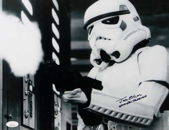 Joe Gibson Autographed 11x14 Firing Gun Photo w/ Stormtrooper - JSA Auth *Black
