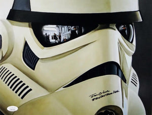 Joe Gibson Autographed 11x14 Mask Close Up Photo w/ Stormtrooper- JSA Auth *Black