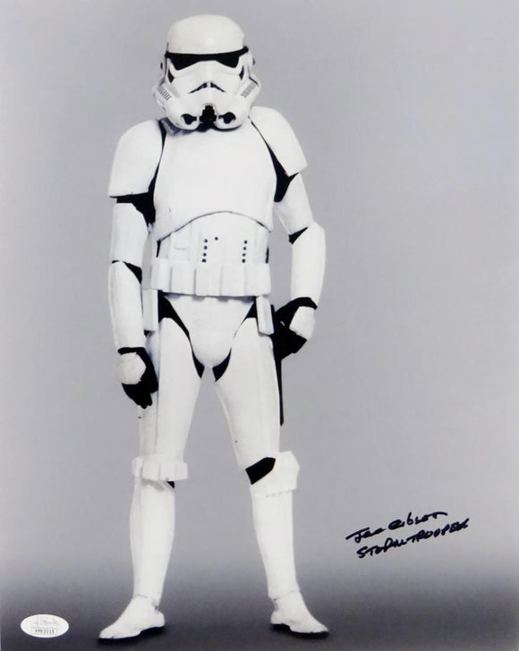 Joe Gibson Autographed Full Body 11x14 Photo w/ Stormtrooper - JSA Auth *Black