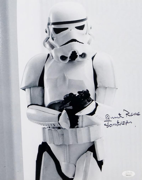 Quentin Pierre Autographed 11x14 Photo From Movie w/ Stormtrooper - JSA Auth *Black